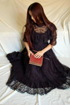 Black Lace dress 11 by InTenebris-Stock