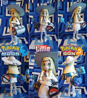 Pokemon Sun and Moon Papercraft ~ Lillie~ by SuperRetroBro