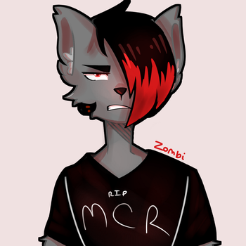 emo furry #1 by TheUndeadZombi