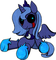 My Little Pony - Crying Luna Plush by kaizerin