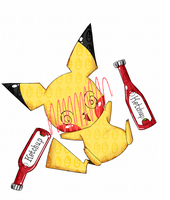 Drunk Pika by OMGProductions