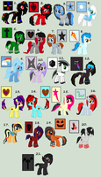 Old OC's Adoptables Part 1 by iPandadopts