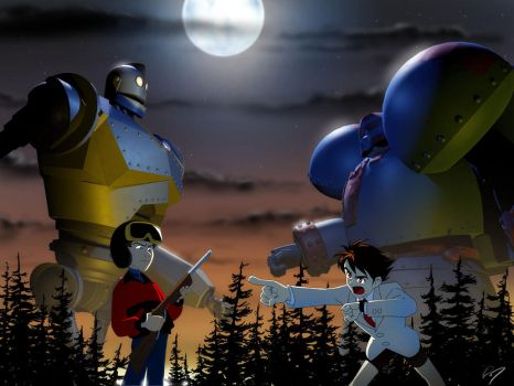 Iron Giant vs Giant Robo by EastCoastCanuck
