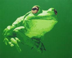 Green Frog by FrankenDracula
