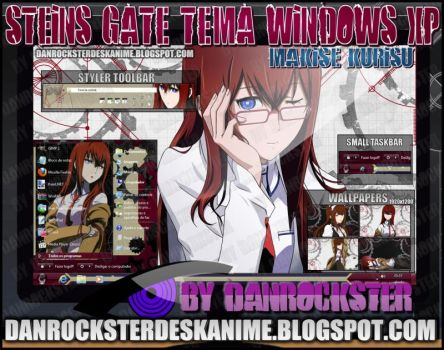 Makise Kurisu Theme Windows XP by Danrockster