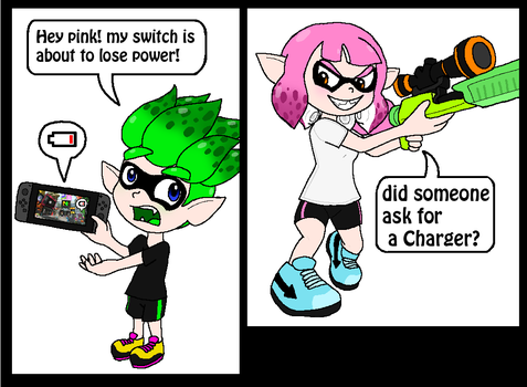 Splatoon - Need A Charger? by Rotommowtom
