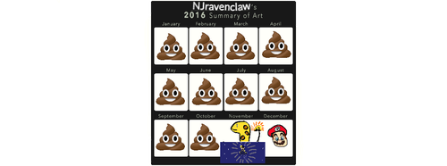 The Summary of my art in 2016 by NJravenclaw
