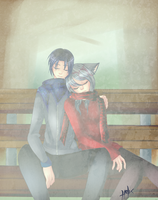 .:Commissions:. Itachi and Witacha - Winter Day by N-Lilix
