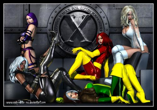 The Ladies of the X-Men by Aphrodite-NS