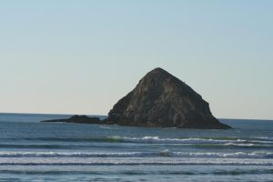 seascape 06: island of rock by cyborgsuzystock
