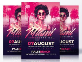 Summer flyer Template by RomeCreation