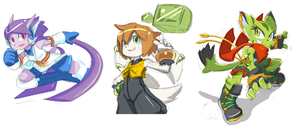 Freedom Planet Sketches by Tale-Dude