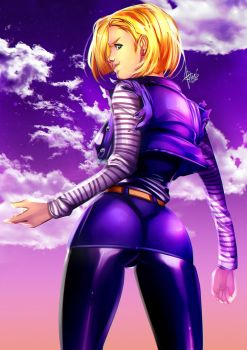 Android 18-FANART :D by xdtopsu01