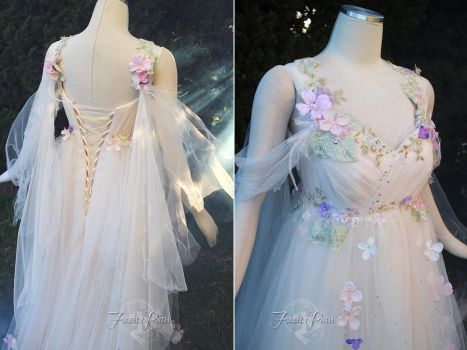 Meadow Mist Bridal Gown Details by Firefly-Path