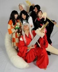 InuYasha Cosplay Group by FunnyFayeValentine