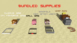 Bundled supplies by MCtiedWTF