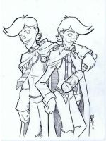 Sketchuary 2010 Fred n George by TheWebTroll
