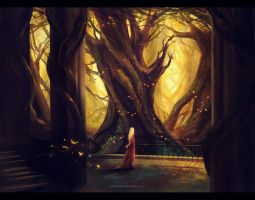 Halls of Thranduil . by megatruh