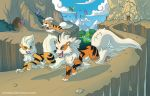Arcanine Family Remake by Almairis