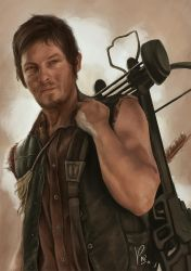 Daryl Dixon by fishglow