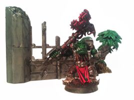 Ork nob with 2h chain axe (aka dats brutal) by Gnatsies