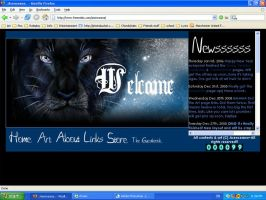New Website Layout by Asenceana