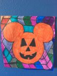 Mickey Mouse Pumpkin Face Art Colorful Design Draw by NWeezyBlueStars23