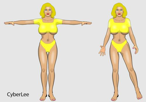 SaRennaLee Front view set01 by CyBerLee3D