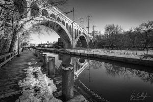 Reflections in the Manayunk Canal by ryangallagherart