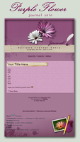 Purple Flower - journal skin by Arya-Susy