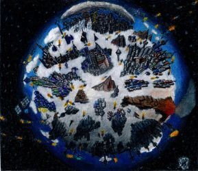 Planetary City  2 of 3 by Stego1