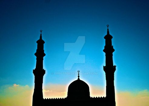 Mosque Silhouette by DrPotter