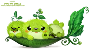 Daily Paint 2098. Pod of Seals by Cryptid-Creations
