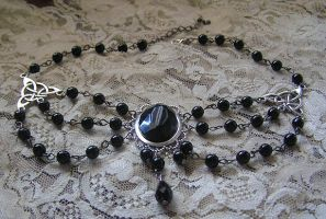 dark black necklace by kaitani81