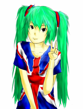 Hatsune Miku - UK outfit by Pixelstepper