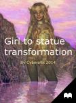 Girl to statue transformation - Statue tf by Cyberalbi