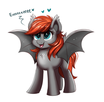 Bat Pone Used Ultra Squee by RavenSunArt