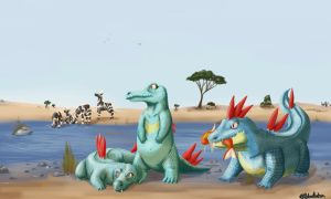 PokeSafari - Totodile by SebasVishno