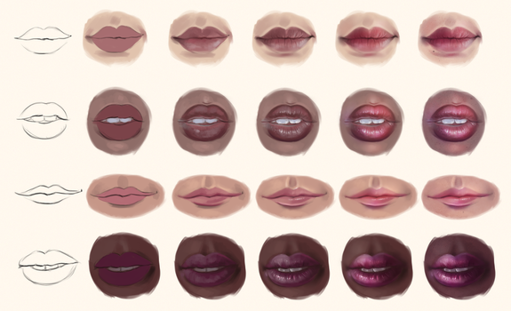 Lip Study - Step by Step by SandraWinther
