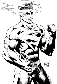 90s Superman Pure Energy Lineart by minsan