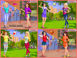 Playing Catch Dress Up Game by DressUpGamescom