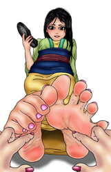 Mulan's Feet get Tickled (Richy17) by FeatherEdits