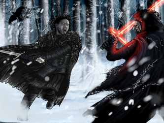 Jon Snow vs Kylo Ren Final by TheNightfallCrow