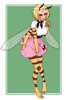 Request: Kiira the Killer Bee in a Poodle Skirt by djunk855