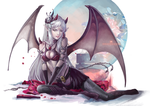 ::COMMISSION:: Succubus Runa by Dopaprime