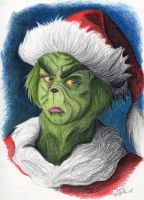 The Grinch by Madame-Kikue