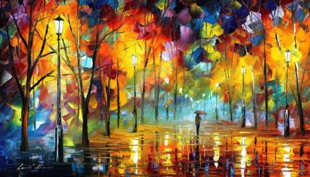 Night Feeling by Leonid Afremov by Leonidafremov