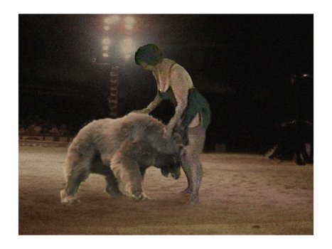 Circus Woman and Bear 02 by PhillipVandamme