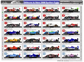 2008 Le Mans Spotters Guide by andyblackmoredesign