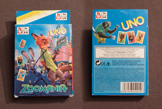 Zootopia Item: Zoomania Uno Card Game by HyenaTig